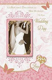 Wedding Day Greetings Daughter U0026 Her Husband Wedding Day Greeting Card
