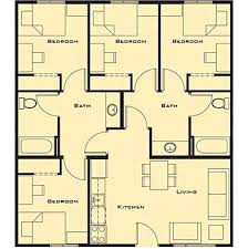 4 Bedroom Floor Plans For A House Small 4 Bedroom House Plans Free Home Future Students Current
