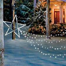 lighted outdoor christmas decorations in yard garden christmas