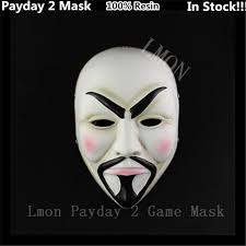 2016 new desin high quality v for vendetta mask resin collect home