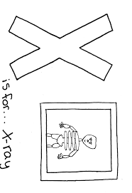 free printable alphabet coloring page letter x