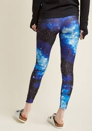 fresh take leggings in blue universe modcloth