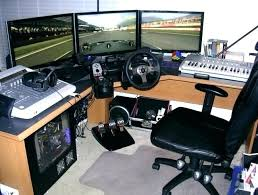 Gaming L Desk Desks For Computer Gaming Creative Of Desk Ideas Workstation Setup