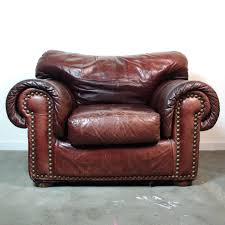 Leather Club Chair Leather Club Chair U0026 Ottoman Vintage Distressed Brown Leather