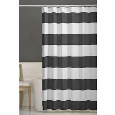 porter gray stripes fabric shower curtain