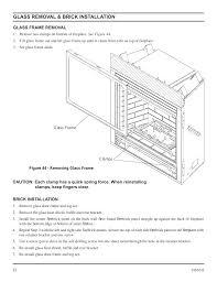 glass removal u0026 brick installation monessen hearth direct vent