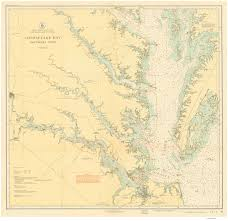 Map Of The Southern United States by Historical Nautical Charts Of The Southern Part Of The Chesapeake Bay