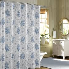 blue french floral shabby chic shower curtains sets for bathroom
