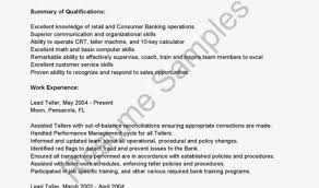 resume resume for bank teller objective awesome resume for bank