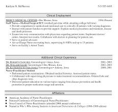 Nursing Resume Examples With Clinical Experience by Resume Examples Graduate Nurse Templates