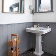 downstairs bathroom decorating ideas grey and white panelled bathroom downstairs loo downstairs