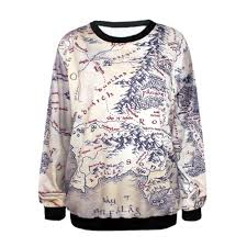 Lotr Map Map Of Middle Earth Sweatshirt U2013 The Hobbit Forge
