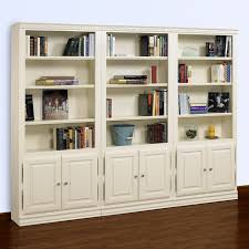 Wall To Wall Bookcases A U0026 E Kamran Wall Bookcase Pearl White Hayneedle