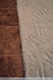 diy faux fur rug how to fake a flokati