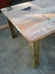 best 25 outdoor wood table ideas on pinterest diy outdoor table
