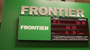 frontier baggage fees frontier airport sign with information stock video jakerbreaker