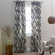 Chevron Navy Curtains Curtains West Elm Zigzag Curtain Inspiration Navy Blue And White