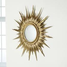 home decoration elegant gold sunburst mirror wall decor with