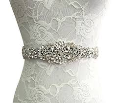 wedding dress belts e clover bridal rhinestone wedding dress sash belt with