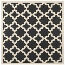 Outdoor Rug Square Safavieh Courtyard All Weather Black Beige Indoor Outdoor Rug 7
