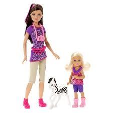 barbie sisters safari fun skipper chelsea doll 2 pack barbie
