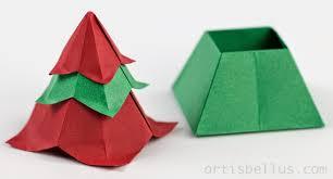 origami boxes christmas tree box origami artis bellus