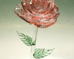 Glass Rose Rose Etsy