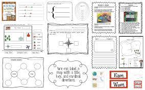 parts of a map worksheet worksheets