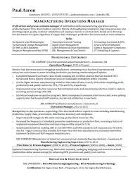 operations manager resume template operations manager resume sle