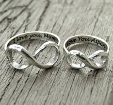 wedding ring engraving quotes infinity ring engraved silver rings custom message jewelry