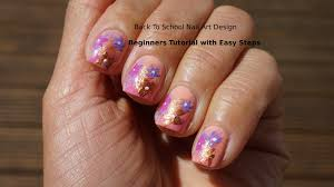 back to nail art design beginners tutorial easy steps cute
