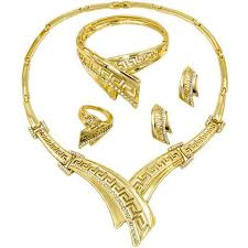 crystal design necklace images Liffly 2018 new african fashion gold jewelry bride crystal design jpg