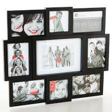 cadre photo pêle mêle mural coloris noir capacità 9 photos