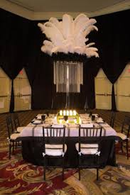 some tables showcased five foot tall centerpieces topped with