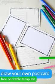 25 unique postcard template ideas on pinterest sending
