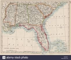 Map Alabama Usa Deep South Florida South Carolina Georgia Alabama Mississippi