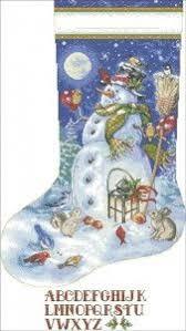 free cross stitch pattern u0027christmas stocking snowman u0027 pattern