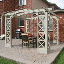 yardistry ym116 12 ft x 12 ft arched roof pergola kit lowe u0027s