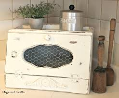 vintage upcycled farmhouse chic wooden bread boxes turquoise and