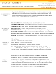 Sample Marketing Resumes by Digital Marketing Resume Of Bridget Thornton