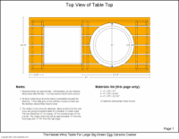 Big Green Egg Table Dimensions Table Plans The Whiz U0027s Ceramic Charcoal Cooker Page Diy