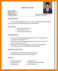 Ece Sample Resume by 5 Cv Format For Fresher Teacher Accept Rejection