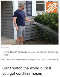 bluetooth light bulb speaker home depot theonion home depot releases new bluetooth cordless hose send this
