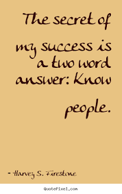 success quote the secret of my success is a two word answer