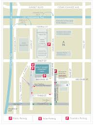 Walt Disney World Transportation Map by Parking At Walt Disney Concert Hall La Phil