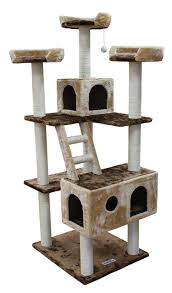 amazon com kitty mansions beverly hills cat tree brown beige
