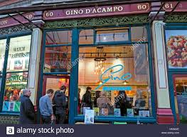 customers queuing at gino d u0027acampo italian pasta bar restaurant at