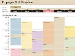 Monthly Employee Schedule Template Excel Free Production Schedule Microsoft Excel Templates