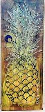 Pineapple Home Decor P I N E A P P L E String Art Salvage Art Home Decor