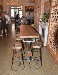 industrial bar table and stools industrial farmhouse bar height kitchen table the industrial farmhouse